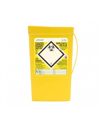 Disposable sharps container 0,45 l