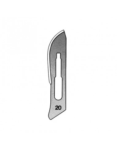 Scalpel blade number 20 in 100 unit box