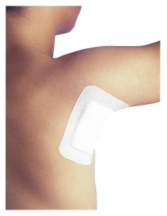 Adhesive dressing absorbent...